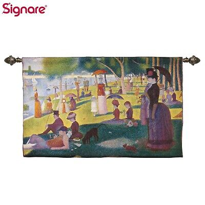 """Wall Hanging A Sunday Afternoon the Island Of La Grande Jatte  55"""" x37"""" G.Seurat"""