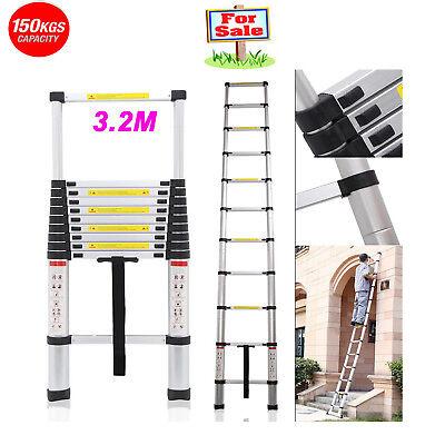 Multi-Purpose Aluminium Telescopic Telescoping Safe Climb Ladder Extension 150KG