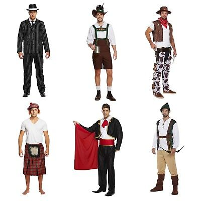 Adult Male Mens Fancy Dress Dressing Up Costume Outfit Gangster Cowboy Matador](Mobster Costumes Male)