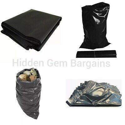 50 Heavy Duty Black Rubble Sacks Builders Waste Trash Bags Tough Refuse Sacks