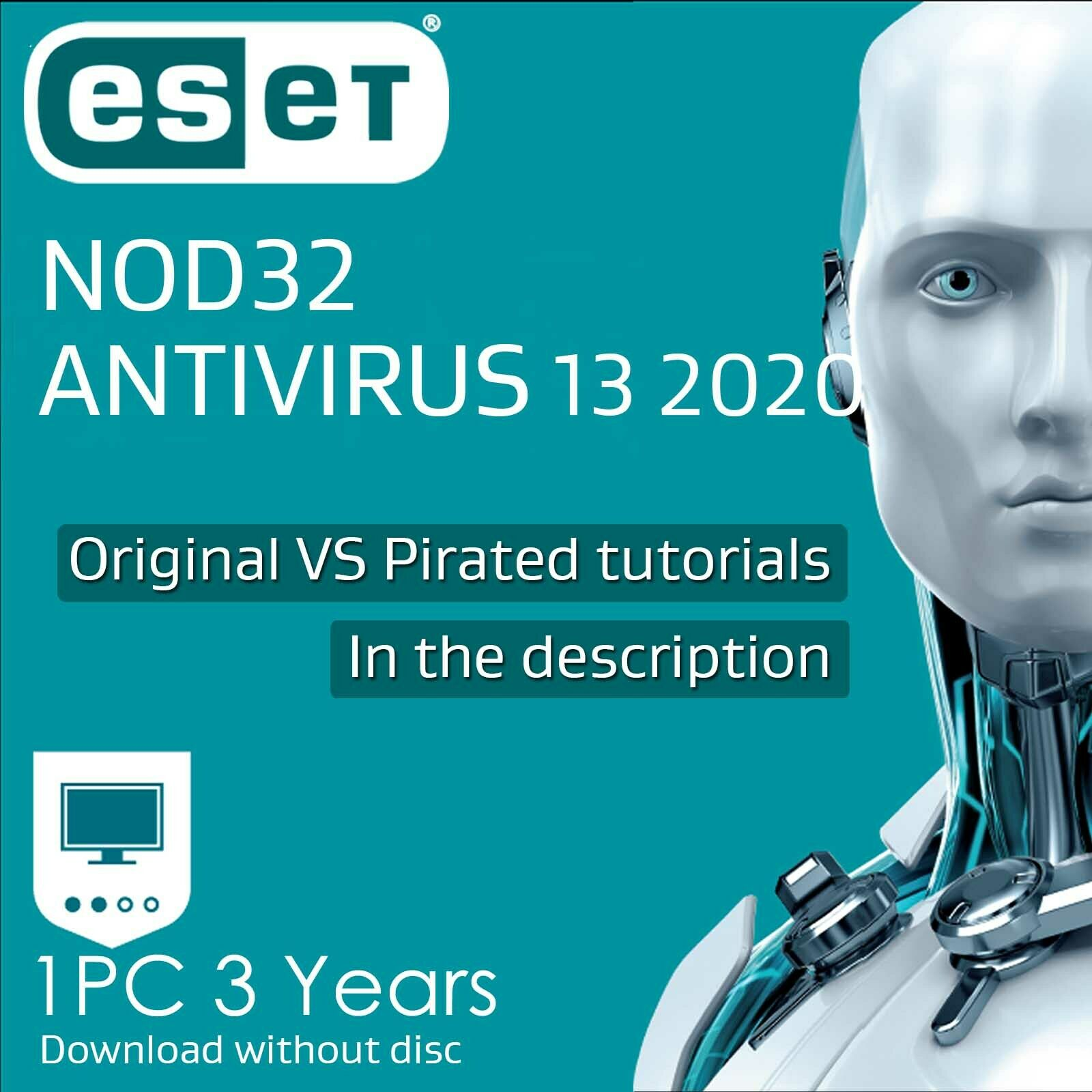ESET Nod32 Antivirus 13 1 2 3 years Nod 32 Antivirus 2020 Download edition