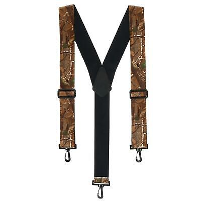 New CTM Men's Big & Tall Elastic Camouflage Suspenders with