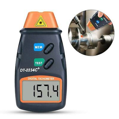Lcd Digital Tachometer Non Contact Laser Photo Rpm Tach Meter Motor Speed Gauge