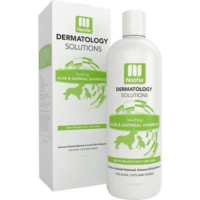Oatmeal Dog Shampoo with Soothing Aloe by Nootie - Best for All Pets including
