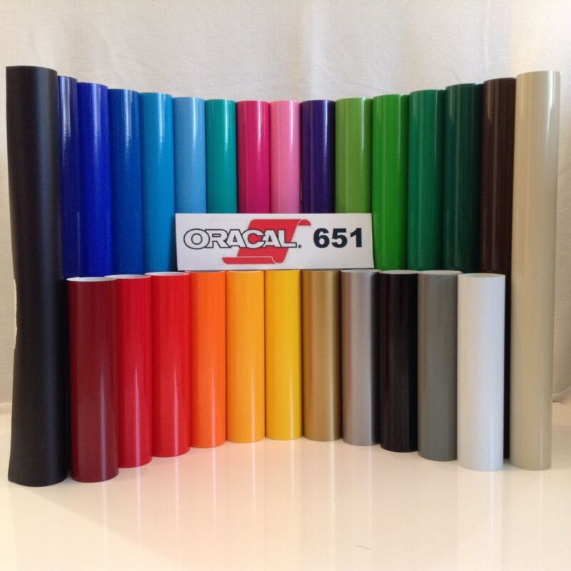 "12"" Oracal 651 Adhesive Vinyl (Craft hobby) 10 Rolls@ 5"