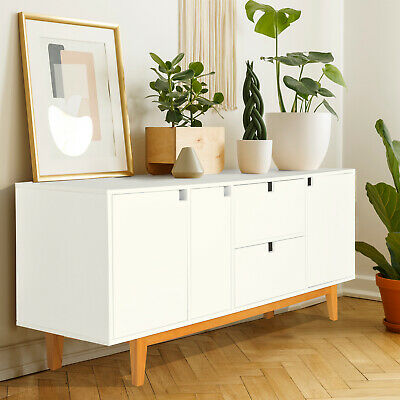 Wood Buffet Sideboard Cabinet Storage Console Table With Drawers Shelves -