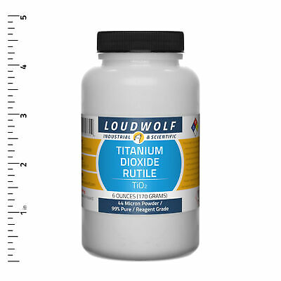 Titanium Dioxide Rutile 6 Oz Reagent Grade 44 Micron Powder Usa Seller