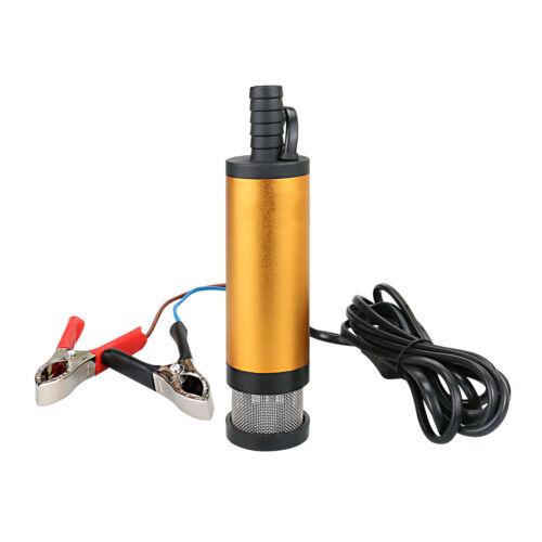 Tauchpumpe 12V 3M 12L//min Diesel Öl Wasser Pumpe Transfer Auto KFZ Edelstahl DHL