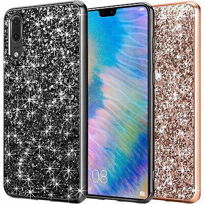 20 Glitzer (Fitsu Huawei P20 Glitzer Hülle Strass Case Bumper Handy Schale BlingBling Cover )