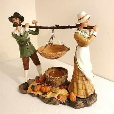 Yankee Candle Fall Thanksgiving Pilgrims Scene Hanging Tart Warmer/Burner