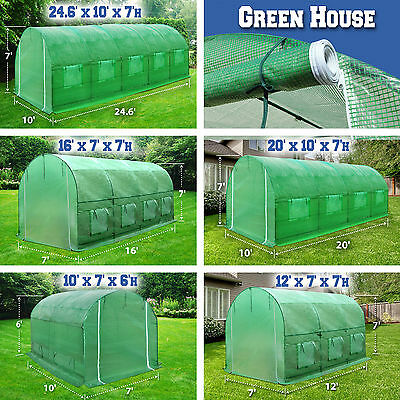 New Green House Larger Walk In Outdoor Plant Gardening Hot Greenhouse Outdoor