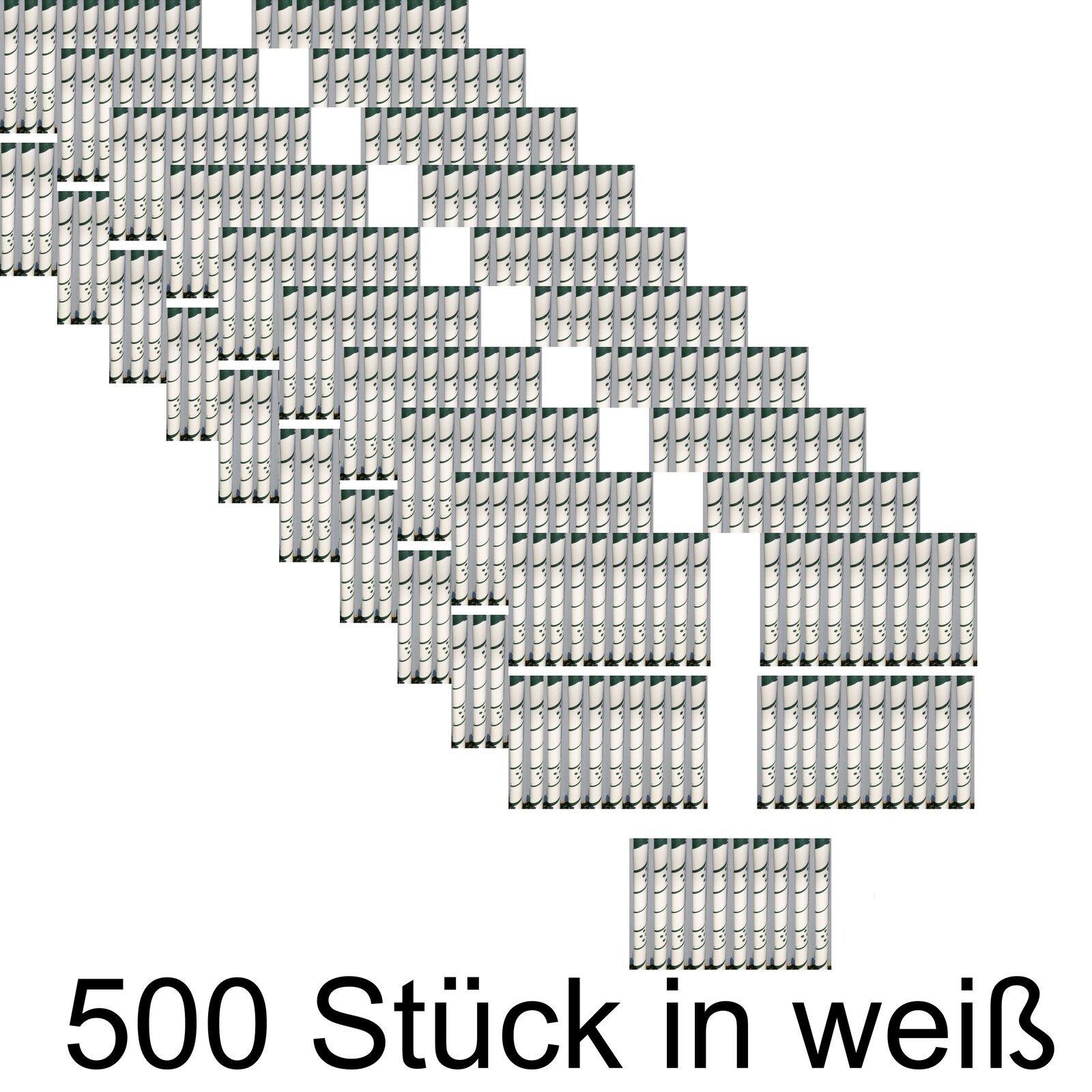 500 x Baum Manschette Wild Fegeschutz Spiralen Verbißschutz Schutz Wildfraß weiß