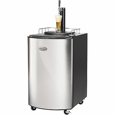 Stainless Steel Full Size Kegerator, Home Brew Tap Beer Dispenser Refrigerator