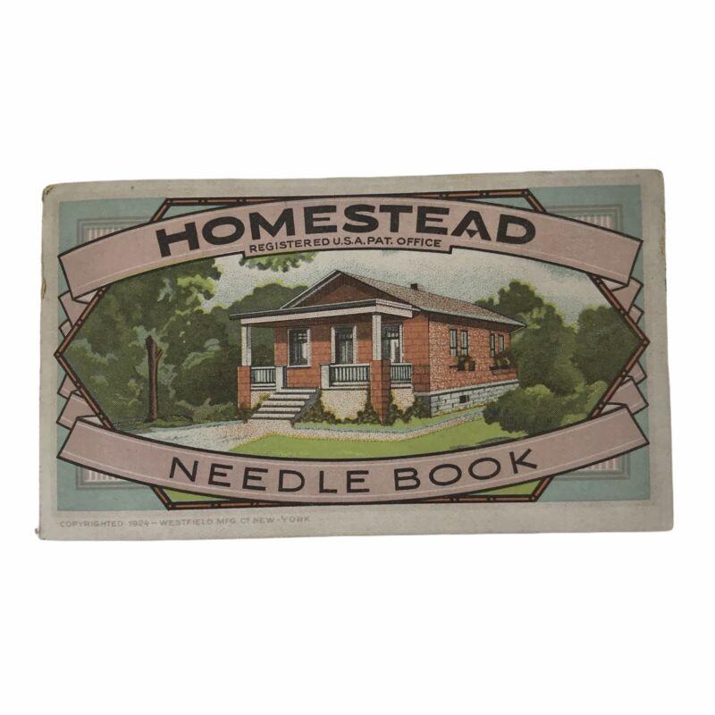 Vintage Homestead Superior Needles Advertising Needle Book