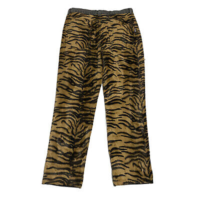NWOT Ashley Williams Tiger Print Denim Jeans Pants Unisex Size L