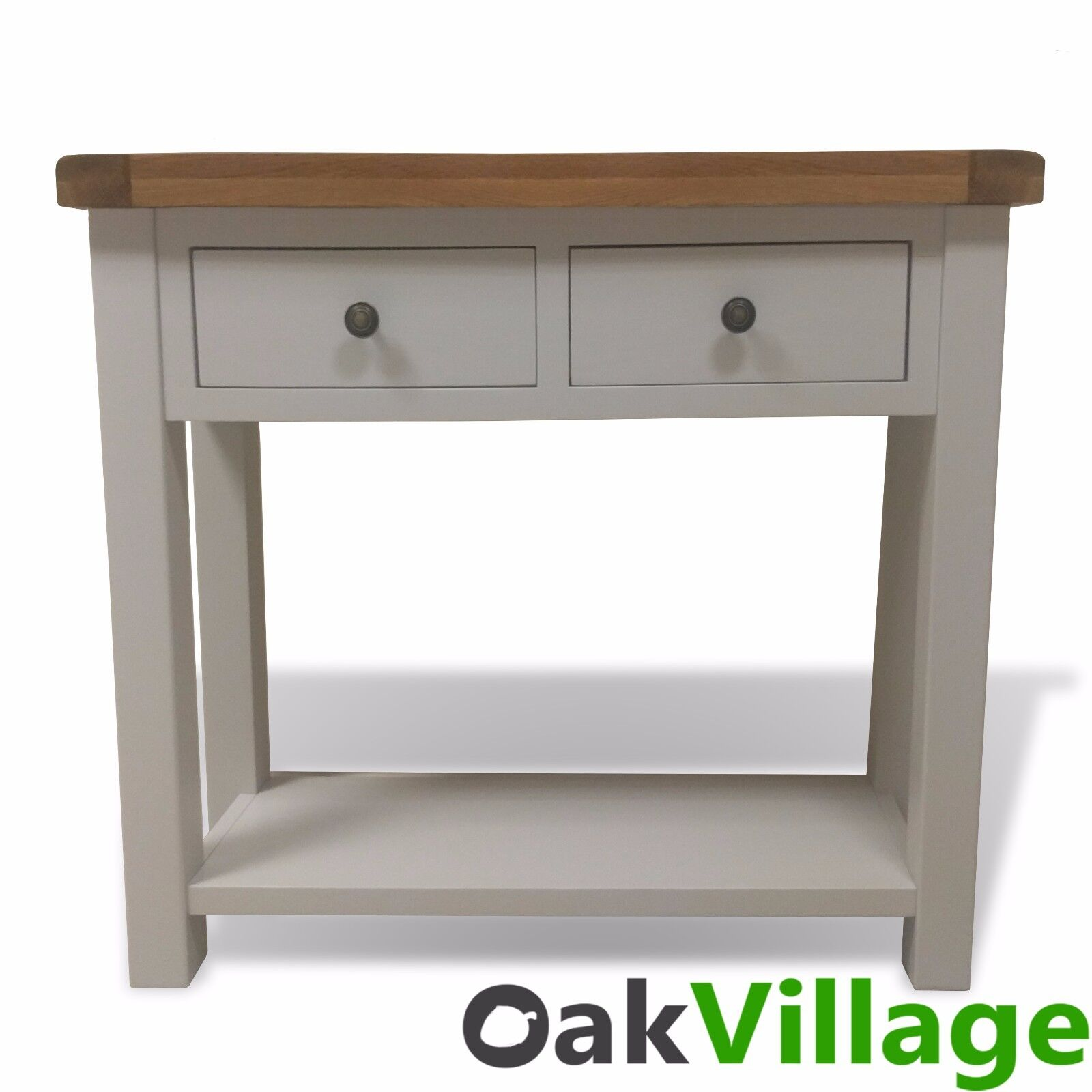 Tuscan grey painted oak console table hall table thick chunky painted oak console table geotapseo Gallery