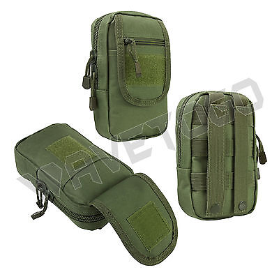 VISM NcSTAR Tactical Accessory MOLLE PALS Large Utility Storage Tool Pouch Green