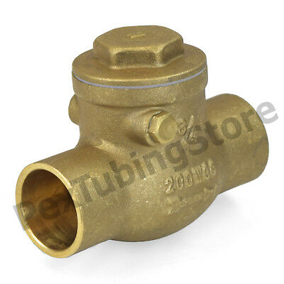 12 Sweat Cxc Lead-free Brass Swing Check Valve 200 Wog