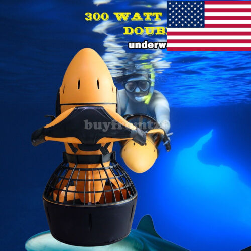 Diving Sea Scooter 300W Pro Electric Waterproof Dual Speed SafetyProp/6kmh US*