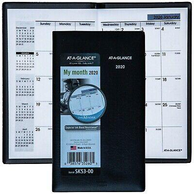 2020 At-a-glance Dayminder Sk53-00 Monthly Pocket Planner 3-58 X 6-116