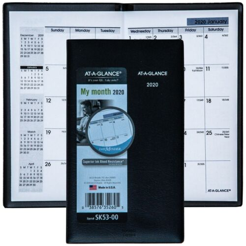 2020 At-A-Glance DayMinder SK53-00 Monthly Pocket Planner, 3-5/8 x 6-1/16""