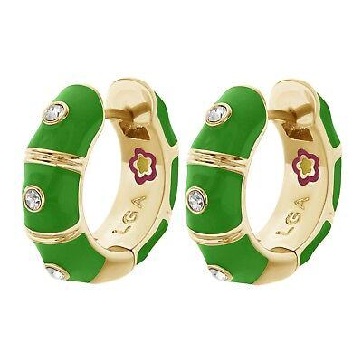 Authentic Lauren G Adams High-End  Earrings Huggies Tiny Dots Desire Emerald $99 Emerald Huggies Earrings
