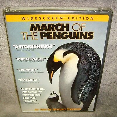 March of the Penguins (DVD, 2005, Widescreen) New•USA•Documentary•Morgan Freeman