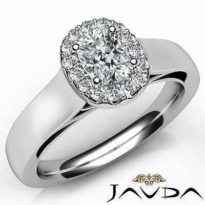 Classic Cushion Shape Diamond Engagement GIA G VS2 Halo Pave Ring Platinum 0.7Ct