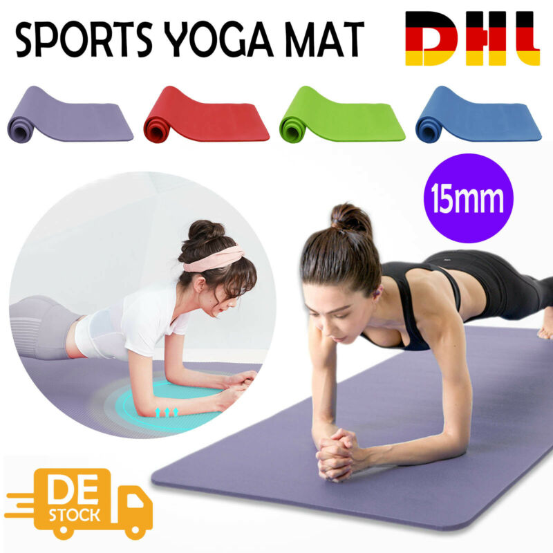 Pilates Gymnastikmatte 183 x 61cm Fitnessmatte Yogamatte Bodenmatte Turnmatte DE