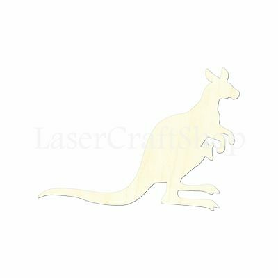 Safari Animal, Kenguru, Wooden Cutout Shape, Tags Ornaments Laser Cut #1430](Wooden Animal Cutouts)