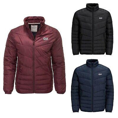 Mens Jack & Jones Puffer Quilted Lightweight Warm Coat Jacket S-XL 7823