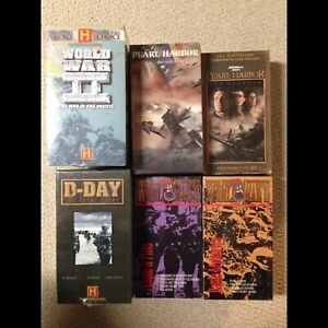 World War 2 VHS Collection --All new in box