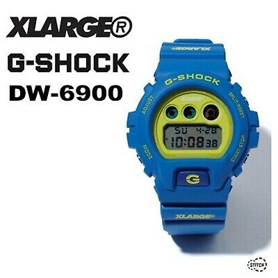 XLARGE x G-SHOCK DW 6900 2019 Summer Collection Limited Lime green Blue Japan for sale  Shipping to Ireland