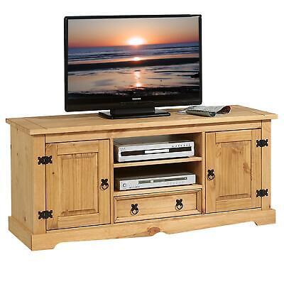 Tv-rack (Lowboard TV Rack Möbel im Mexiko Stil  Fernsehtisch Schrank Bank Kiefer Mexico)