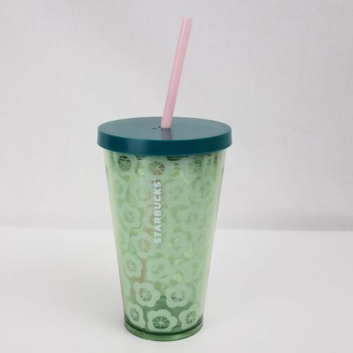 Starbucks 2018 Spring Green Floral Insulated Tumbler with St