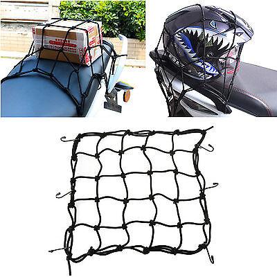 Bungee Cord Cargo Net Motorcycle Helmet Mesh Storage Tie Down Adjustable Black