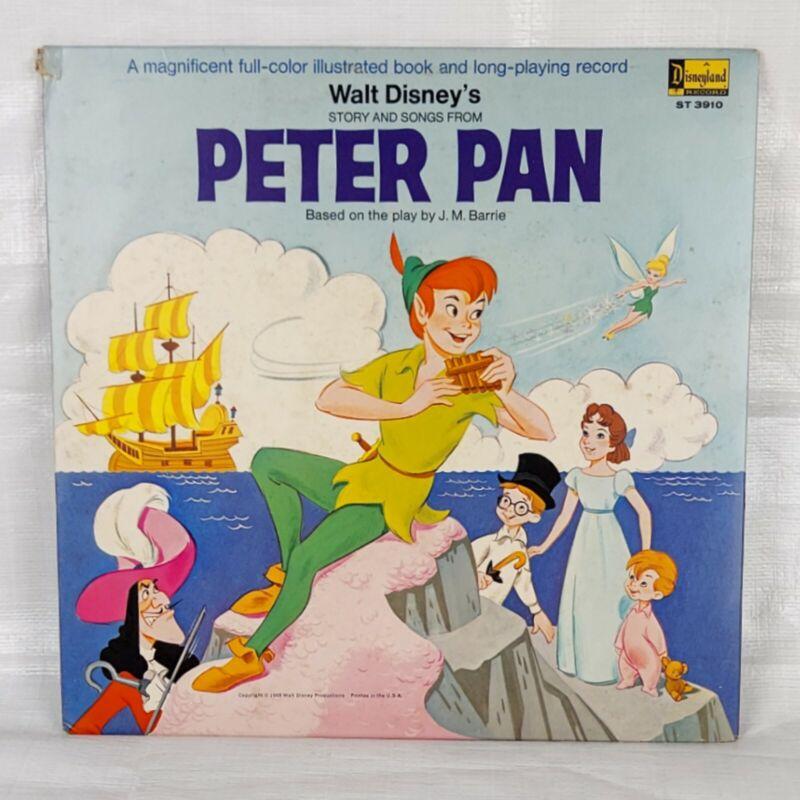 1960s Disney Peter Pan Record, Vintage Vinyl LP, Children