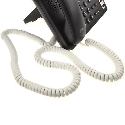 6.4m en Espiral Auricular de Teléfono RJ10 Cable Blanco