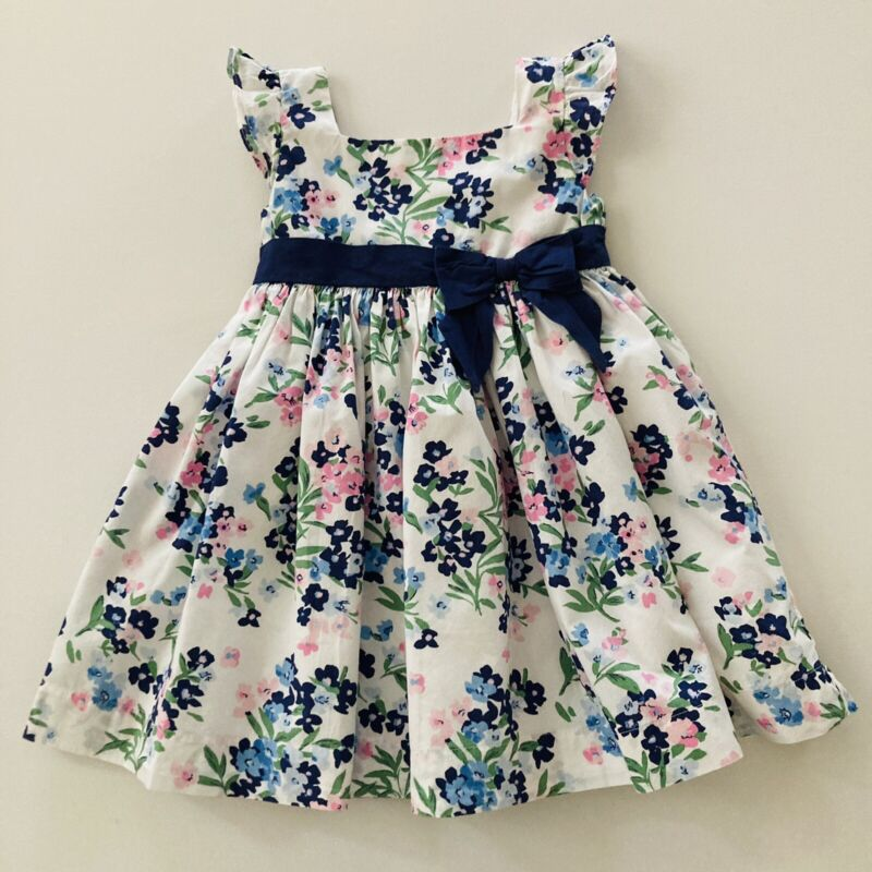 Janie and Jack Toddler Girl 2T Floral Dress Bow Lined