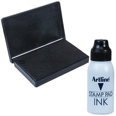 4 Stamps Felt Ink Pad - Artline Black Felt Fabric Inkpad, Stamp Pad, 3 x 4-1/2