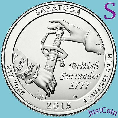 2015-S SARATOGA SPRINGS (NY) NATIONAL HISTORICAL PARK QUARTER UNCIRCULATED