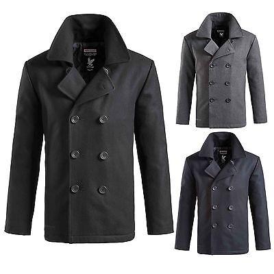 Wolle Peacoat Jacke (Surplus Pea Coat Caban Jacke Marine Woll Mantel US Colani Seemann Kurzmantel WOW)