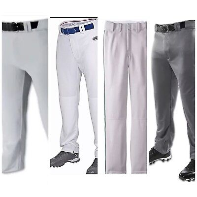 Men's Baseball Pants White Gray Graphite Navy Green Pipe Medium Large XL Rawling