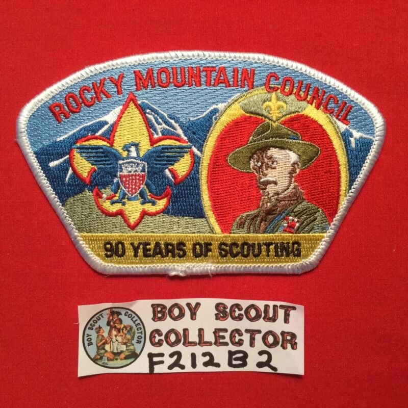 Boy Scout CSP Rocky Mountain Council Shoulder Patch 90 Years