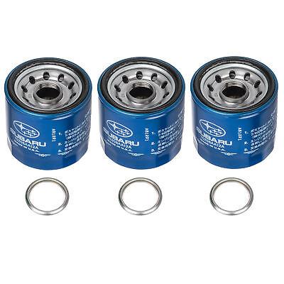 OEM 1990-2018 Subaru Engine Oil Filter & Gasket Set (x3) 15208AA12A & 11126AA000 1994 Subaru Legacy Engine
