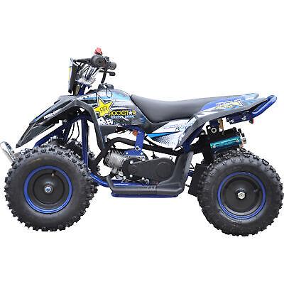 Renegade LT50A Kids Mini 49cc 2-stroke Petrol Quad Bike ATV - Blue
