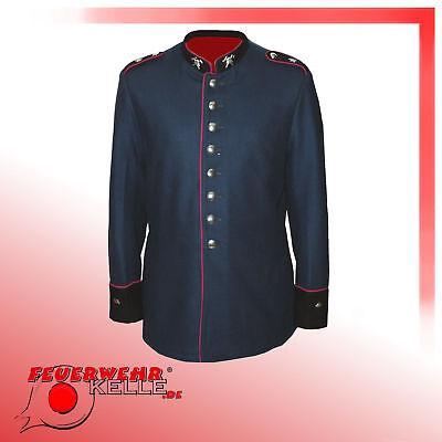 Feuerwehr Rock (Preußische Feuerwehr Uniform Uniformjacke Kaiserzeit WW1  Der bunte Rock NEU)