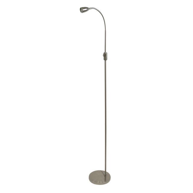 Lloytron L5501 5W LED 'Quebec' Reading Floor Standing Lamp 158cm Height - New