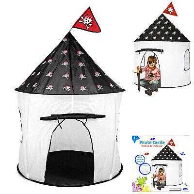 Spielzelt Piratenzelt  Kinder Spielhaus Burg Kinderzimmer Outdoor Ø105 faltbar