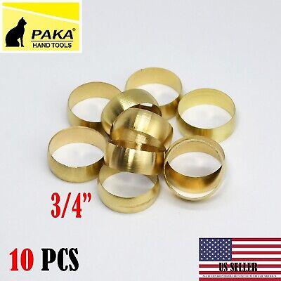 10 Pcs - Brass Compression Sleeve Tube Od 34 20 Mm